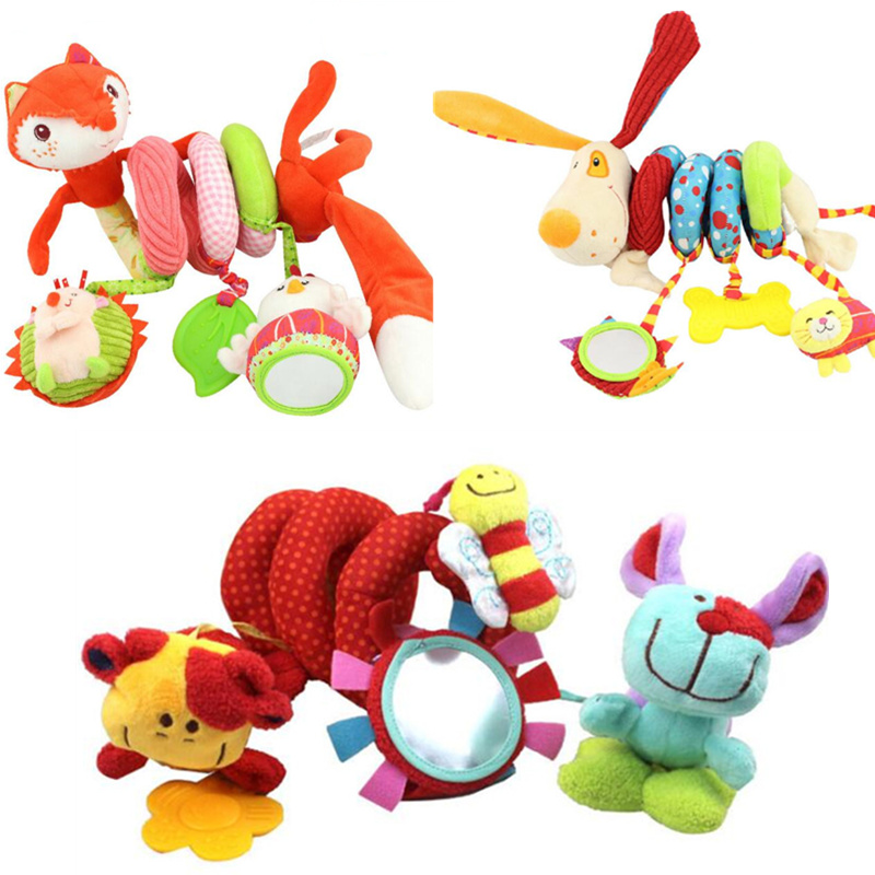 Cute Spiral Activity Stroller Car Seat Cot Lathe Hanging Babyplay Travel Toys Baby Rattles Infant Toys 20% Off