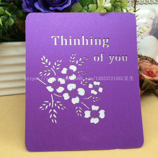Vintage Style Hollow Out Greeting Card Postcard Birthday Gift Card