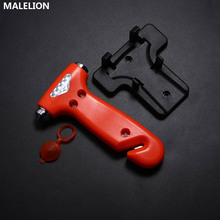 Multifunctional Car Safety Hammer Glass Broken Window Vehicle Escape Device Tool Mini Life-Saving Red