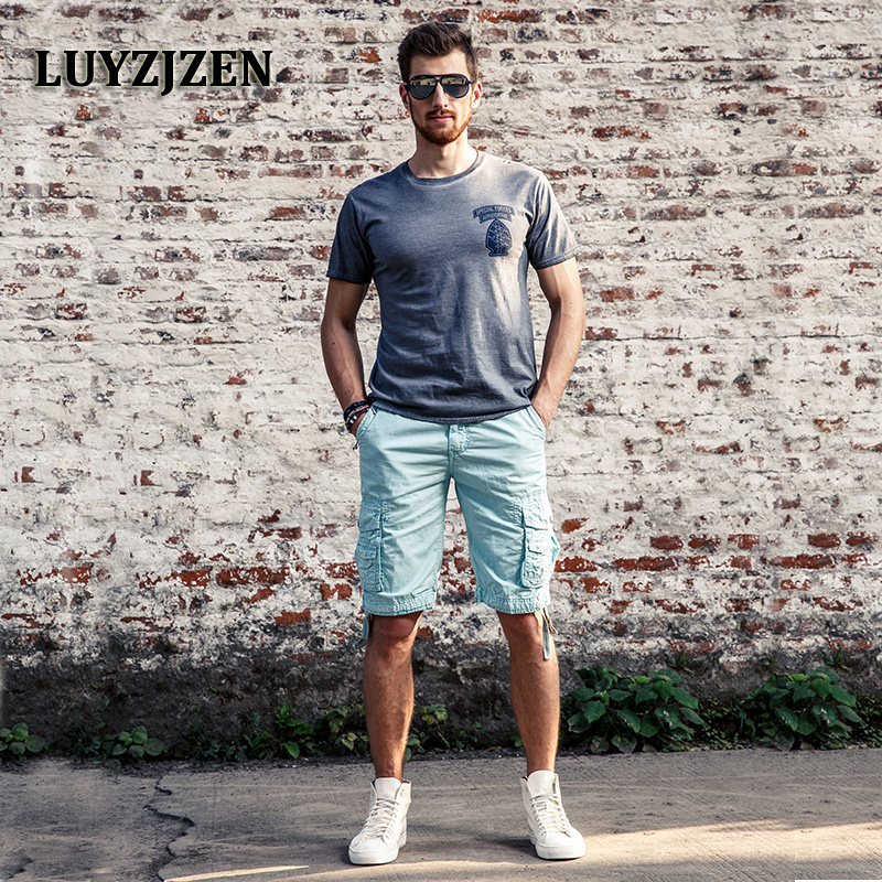 Camouflage Cargo Shorts Men 2017 Men's Loose Multipocket Military Shorts For Men Summer New Shorts Bermuda Cargo 1029
