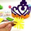 Happyxuan 6pcs Making DIY Handmade Felt Toys Kids Happy Birthday Crown Hand Craft Kits Hat Party Supplies for Girl Kindergarten discount