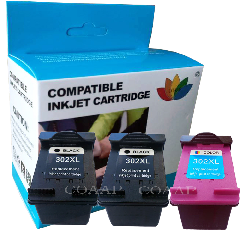 Replacement Ink Cartridge For Hp302 F6U68AE Black For HP Officejet 3800 3830 3831 3833 3834 4650 4654 3833 3834 3835 Printers