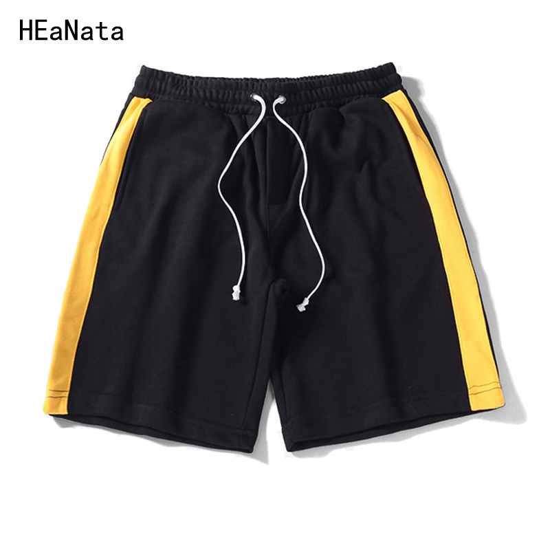 Summer Shorts Men Cotton Solid Color Casual Basic Young Mens Short Trousers Slim Knee-length Men Thin White Stripe Shorts 2018