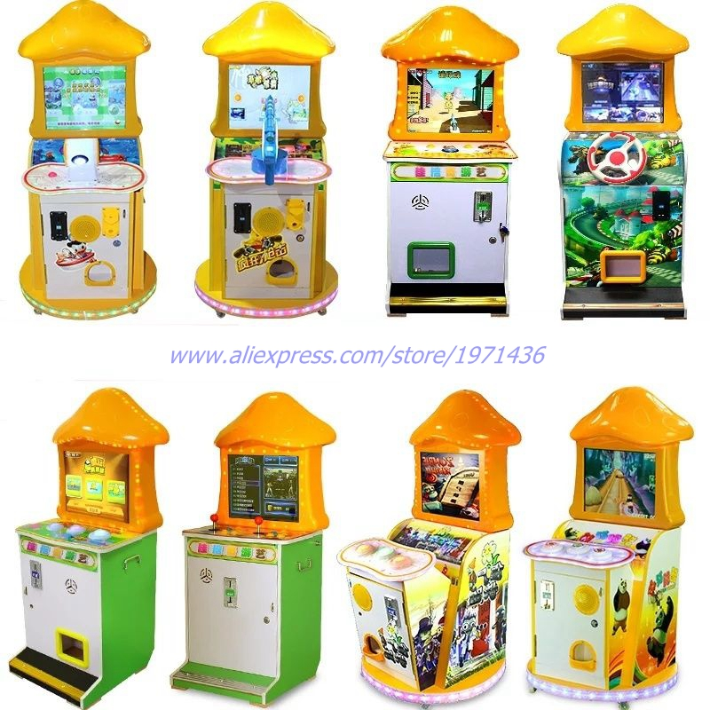 Mini Amusement Equipment Small Coin Operated Gun Shooting Games and Drive Car Game Machine For Kids