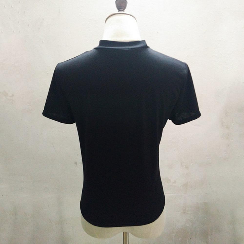 HTB1Cq.KQVXXXXblXFXXq6xXFXXXq - Cutout Choker Neck Rose Patch Knot T-shirt PTC 172