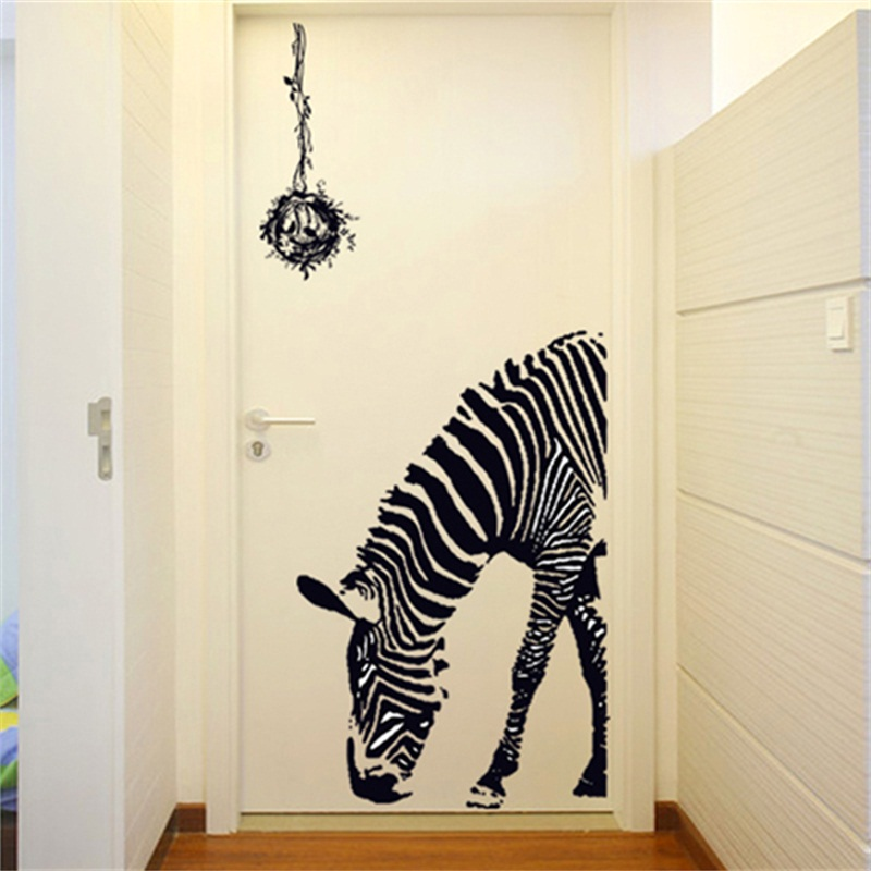 Aliexpress.com  Buy Personalized Zebra Sticker TV Background Wall Stickers Sofa Wall Creative Living Room Entrance Door Bedroom Bedside Poster Decor from ... & Aliexpress.com : Buy Personalized Zebra Sticker TV Background Wall ... pezcame.com