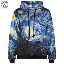 Mr.1991INC Starry Night men's 3d sweatshirt fashion print Van Gogh oil painting hooded hoodies tracksuits hoody with pockets