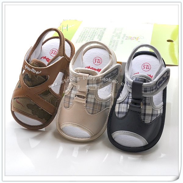 Baby summer male sandals slip-resistant rubber soled shoes 0-1 year old