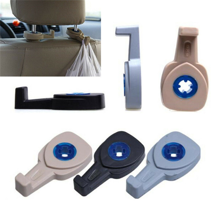 Image 2 - 2pcs/pair Multifunction Hidden Type Car Seat Back Hook Automotive Accessories Non perforated  Door Back-in Hooks & Rails from Home & Garden