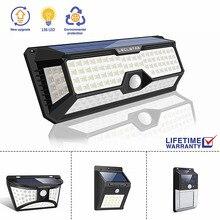 Светодиодный Ночной светильник с датчиком движения на солнечной батарее, Ночной светильник, уличный водонепроницаемый настенный светильник для сада и дороги, ночной Светильник
