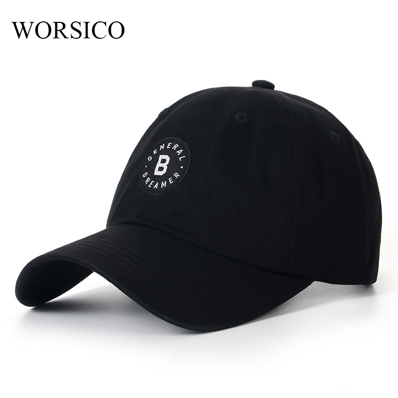 WORSICO 100% Cotton Autumn Baseball Cap Men Letter Adjustable Snapback Caps Hats For Men Brand Bone Vintage Gorras  Summer 2017 new high quality warm winter baseball cap men brand snapback black solid bone baseball mens winter hats ear flaps free sipping