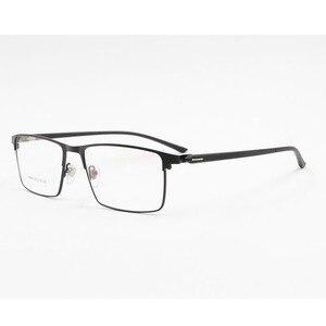 Image 3 - Monture de lunettes pour hommes P9960, en alliage de titane, cadre de lunettes lunettes pour hommes IP, matériau en alliage, monture complète, charnière à ressort