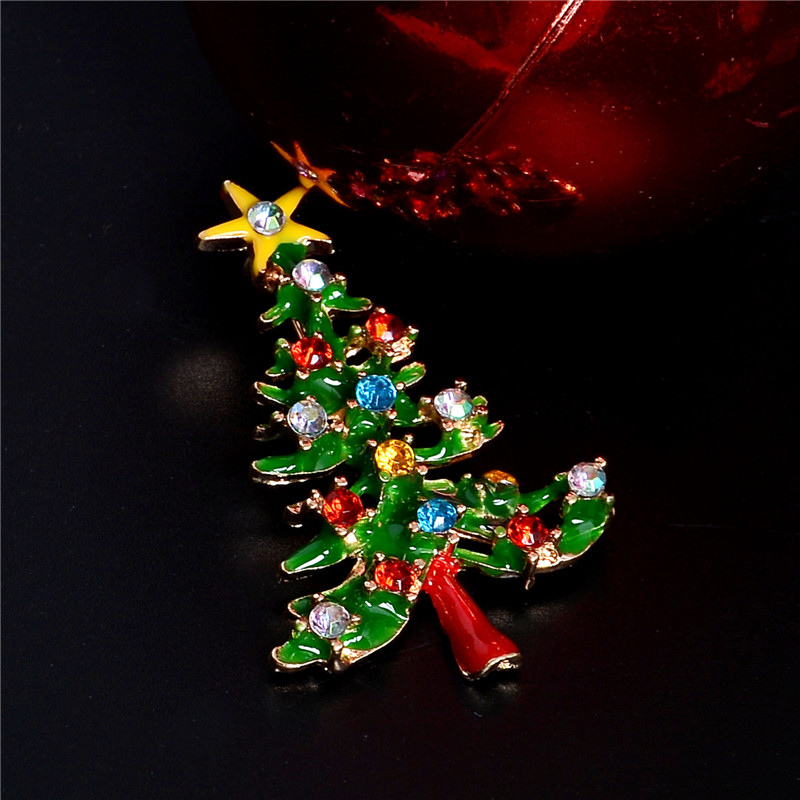 Jewelry Christmas Trees.Us 1 06 44 Off H Hyde Hot Christmas Tree Crystal Brooches Pins Fashion Jewelry For Women Children Christmas Gif In Brooches From Jewelry