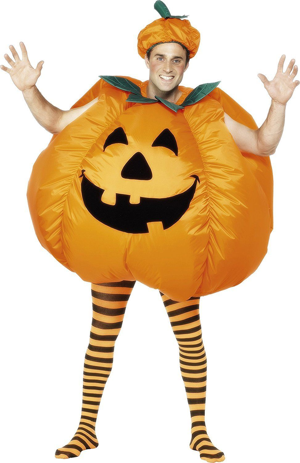 Halloween Pumpkin Inflatable Costume Suit Cosplay Adult Men Women Fancy Dress Costume Party Dress Outfit