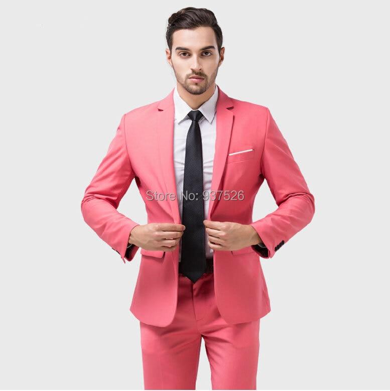 Chaqueta pant alta calidad de hombre de rosa boda for Trajes de novio blanco para boda