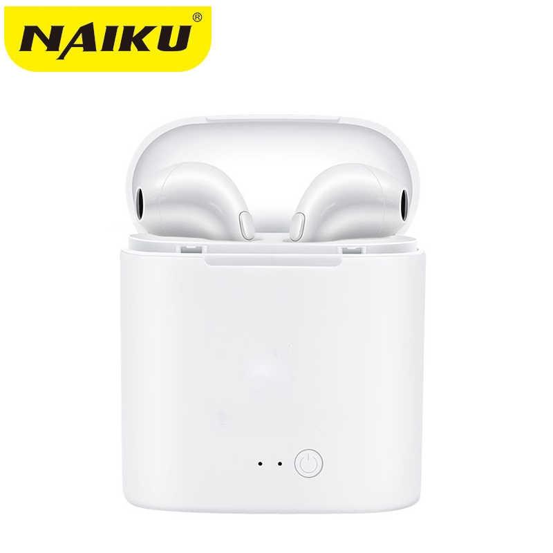 I7s TWS 5.0 bezprzewodowe słuchawki Bluetooth słuchawki stereo zestaw słuchawkowy z okno ładowania dla wszystkich Bluetooth tablet inteligentny słuchawka do telefonu