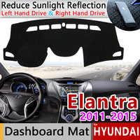 Pour Hyundai Elantra 2011 2012 2013 2014 2015 MD UD Avante tapis anti-dérapant tableau de bord couverture Pad parasol Dashmat accessoires Anti-UV