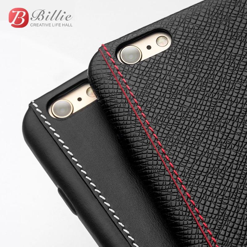 imágenes para Para iphone 6 & 6 s case piel de becerro de lujo cubierta de cuero genuino para iphone 6 s plus ultra delgado para iphone 6 plus case moda