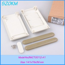 4 pcs/lot  enclosure for electronics desktop enclosure project boxes plastic 141x76x36mm