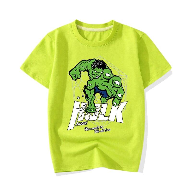 Big Boy Girl Summer Cartoon Hero Hulk Print T-shirts Clothes Children Baby Cute Pink Short Sleeve Tee Top Tshirts Clothing JY011 (1)