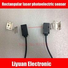 Прямоугольный лазерный фотоэлектрический датчик/10-30 в видимый лазерный датчик/0-10 м лазерный фотоэлектрический переключатель