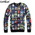 Новый 2016 весна emoji толстовка пуловеры унисекс костюмы мужские harajuku толстовки и толстовки emoji чужеродных костюмы, ZA176