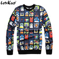 New 2016 spring emoji sweatshirt pullover unisex suits mens harajuku hoodies and sweatshirts alien emoji tracksuits,ZA176