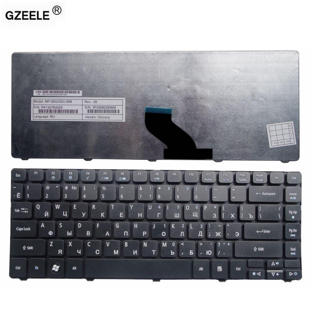 GZEELE russe clavier d'ordinateur portable pour Acer Aspire 4736 4736zG 4736g 4738ZG 4746 4739Z 3820TG 3810TG 3810 t 4750g 4743g 5942 5942g RU
