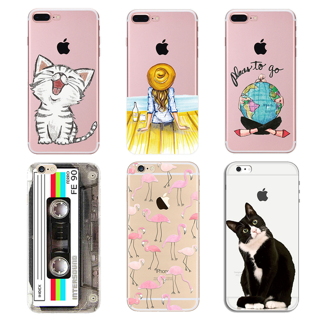 Case For iPhone 5s 5 8 Plus Ultra-Thin Painted Silicone Soft TPU Case Cover For iPhone 6s 6 Plus Case For iPhone 7 8 Plus PC-151