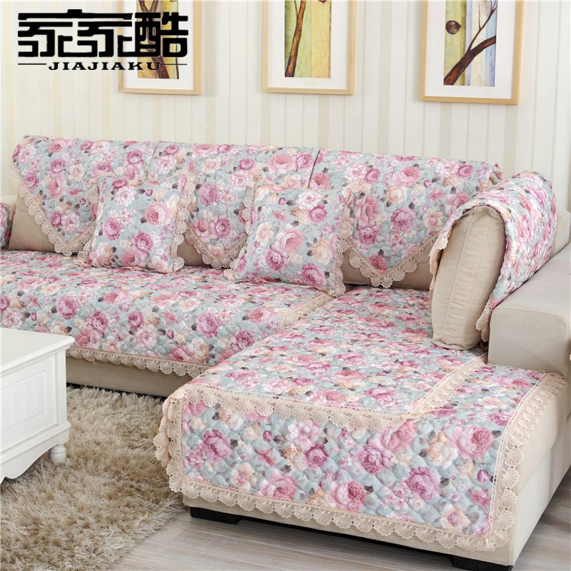 JIAJIAKU Brand Sofa Cover Set Customized Fabric Cushion Plaid Quilted Mats  Towel Leather Furniture Slipcover Couch