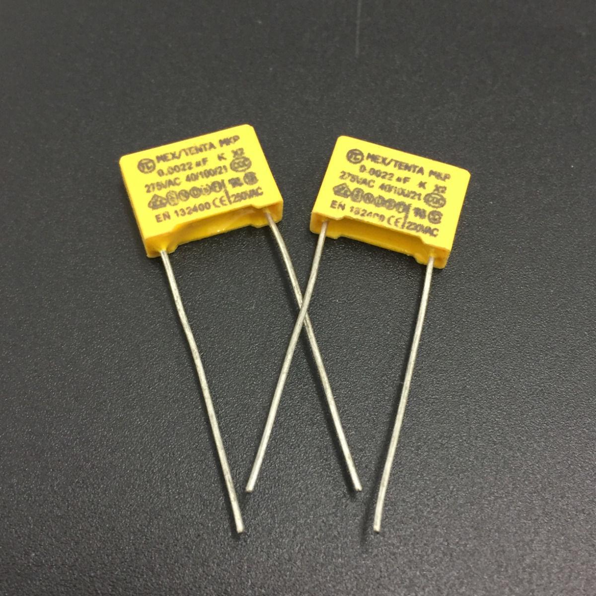 capacitor con película 10 X 2,2 Nf 0.0022 Uf 100v 5/% poliéster