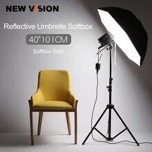 """Softbox de paraguas reflectante para iluminación de estudio fotográfico, Flash de estudio fotográfico de 40 """"y 101cm"""