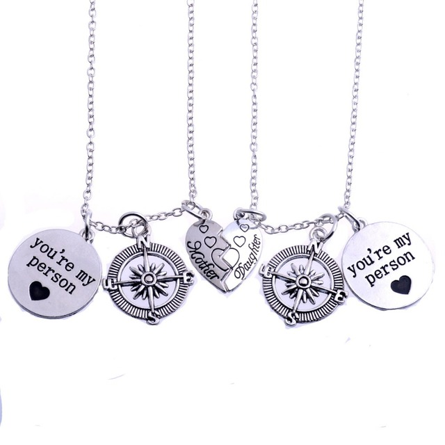 2pcs youre my person charm compass family mother daughter pendant 2pcs youre my person charm compass family mother daughter pendant necklace love heart necklaces aloadofball Gallery