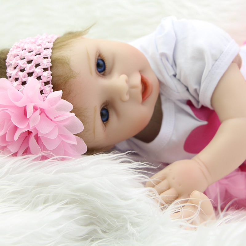 Lifelike 22 Inch Reborn Babies Doll Silicone Vinyl Newborn Girls So Truly Real Princess Alive Boneca Kids Birthday Xmas Gift handmade girl american doll full body vinyl 18 inch princess girls doll real lifelike reborn alive toy kids birthday gift