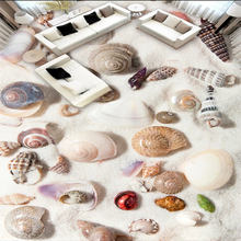 beibehang Custom 3d wall murals fashion high-definition beach shell conch 3D floor tiles floor painting self adhesive wallpaper free shipping custom vintage floor beach starfish conch 3d floor home decoration self adhesive wallpaper bathroom mural