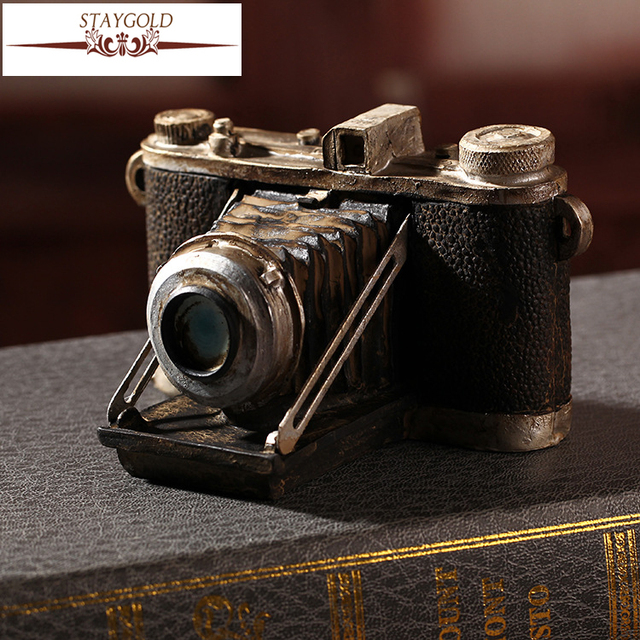 Shabby Chic Camera Vintage Home Decor Resin Crafts Home Decoration  Accessories For Living Room Antique Art