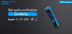 Image 5 - 2pcs IMALENT MRB 186P30 3.7v 18650 3000mAh 15A Li ion rechargeable battery high performance for high drain LED freshlights