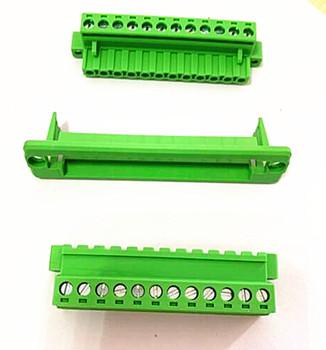 5 zestawów skok 5 08mm-2 3 4 5 6 7 8 9 10 P zielony przez ścianę które umożliwia wysunięcie modułu płyty wtyk męski i żeński-w miedzi terminal złącze tanie i dobre opinie Splice HJXY