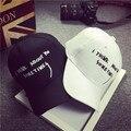 Мода Женская Письма Хлопок Шапки Черный Белый Лето УФ Вс Шляпы Случайных Мужчин Козырьки Регулируемая Унисекс Snapbacks Hat Cap