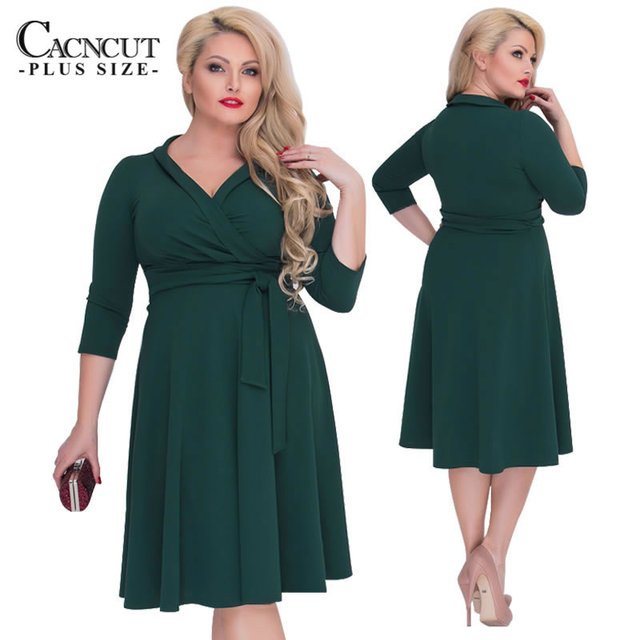 CACNCUT 2018 New Plus Size 6XL Elegant Women s Dress Office Ladies Summer  Dresses Female Sexy Party Dress Big Sizes 5XL Vestidos ced6e424d7e8