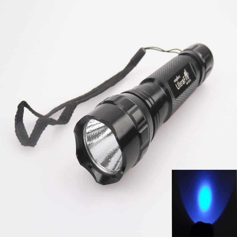 U-F 501B 3W 2-Core 365nm UV LED Flashlight (1x18650)