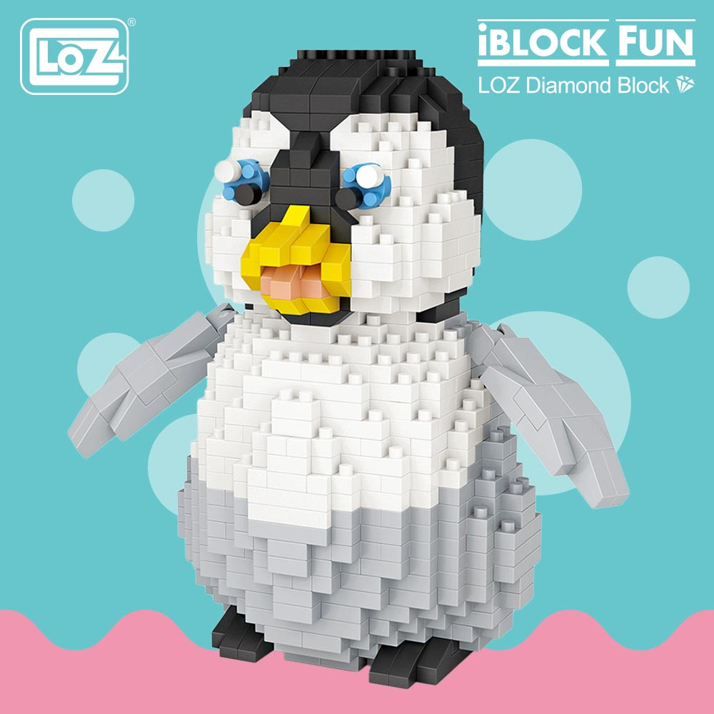 LOZ Diamond Blocks Cute Plastic Penguin Toys for Children Educational Cartoon Animal Anime Action Figure Assembly Model DIY 9792 стоимость