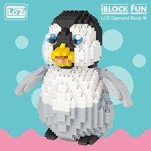 LOZ Diamond Blocks Cute Plastic Penguin Toys for Children Educational Cartoon Animal Anime Action Figure Assembly Model DIY 9792