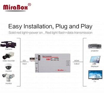 MiraBox HSV190 Portable sdi to HDMI Converter Full HD to BNC Mini SD-SDI/HD-SDI/3G-SDI to HDMI Adapter for Driving HDMI Monitors