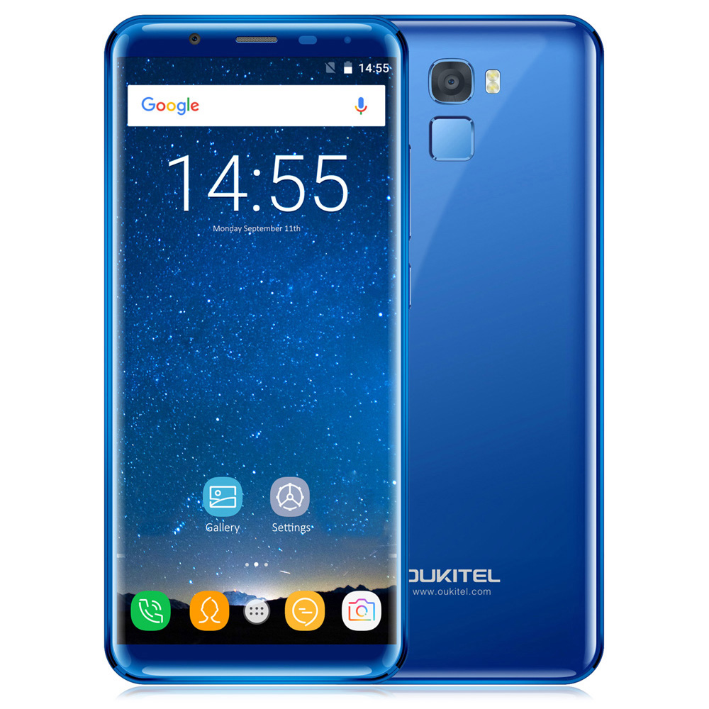 OUKITEL K5000 Smartphone 5.7 Inch 4G Phablet Android 7.0 MTK6750T Octa Core 1.5GHz 16.0MP Rear Camera Fingerprint Scanner Phone