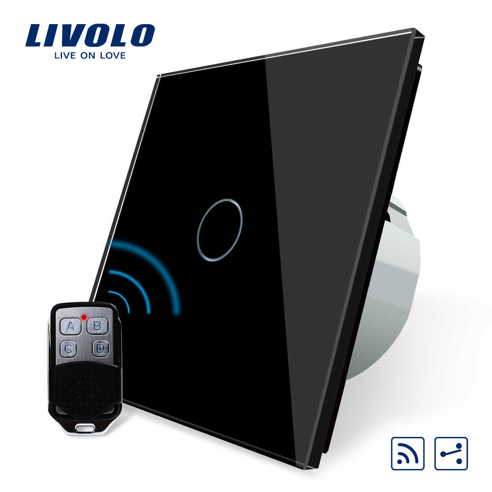 Livolo EU Standard Wireless Switch Light with remote controller,2 Way,220~250V ,on off touch switch,wireless remote lamp switch