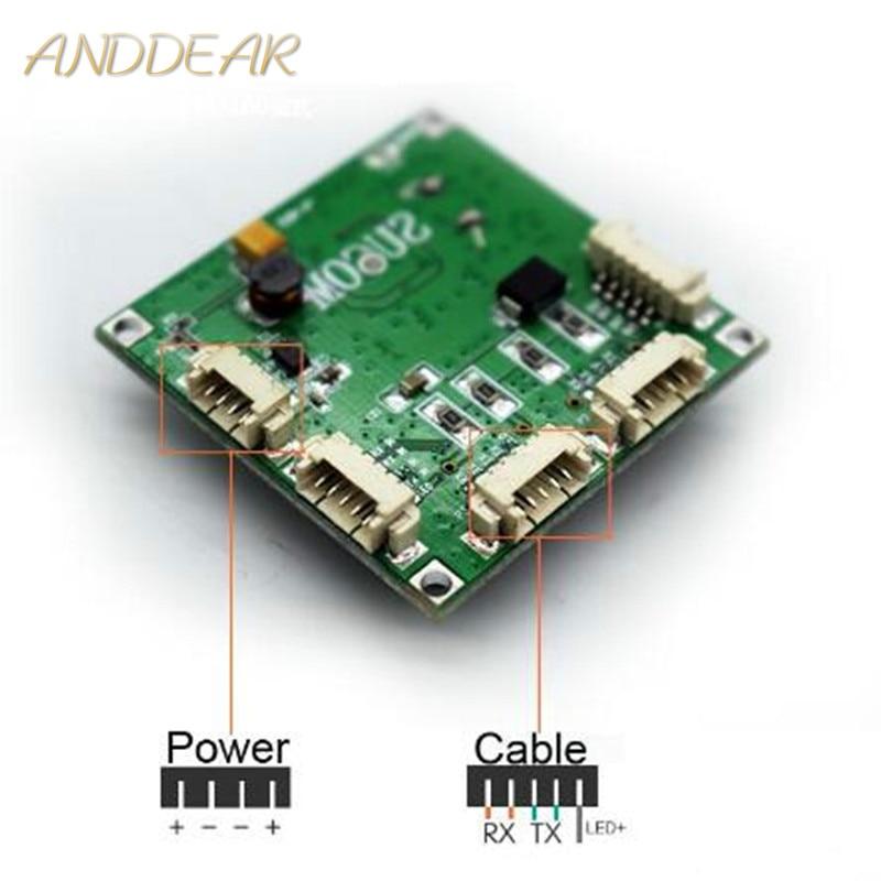 Мини-коммутатор, сетевой коммутатор с 4 портами, 10/100 Мбит/с
