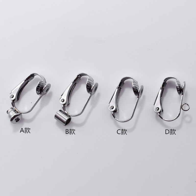 100Pcs plating Silver EARRING HOOK COIL EAR WIRE Earring Findings 15MM GS