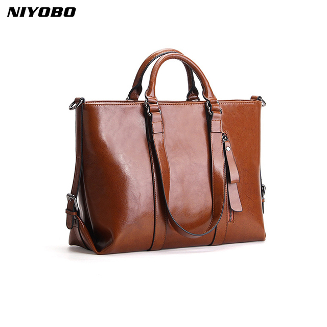 6eafb0aa8e NIYOBO 2018 Famous Designer Brand Women Shoulder Bag 100% Genuine Leather  Large Capacity Female Messenger Handbag Bolsa femenino