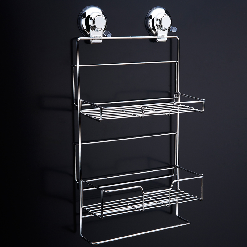 CHANOVEL Stainless steel Bathroom Shelves With Robe Hook 2 Tier ...